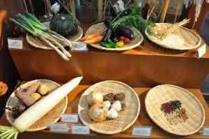 店頭の野菜
